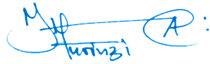 Julius Murinzi's signature